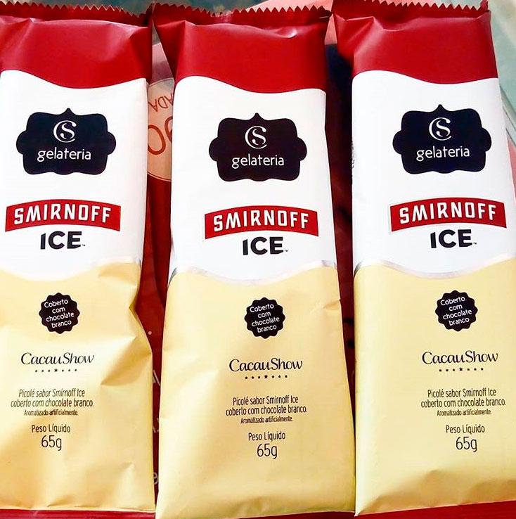 Gelato de Smirnoff Ice assinado pela Cacau Show | : : CidadeMarketing : :