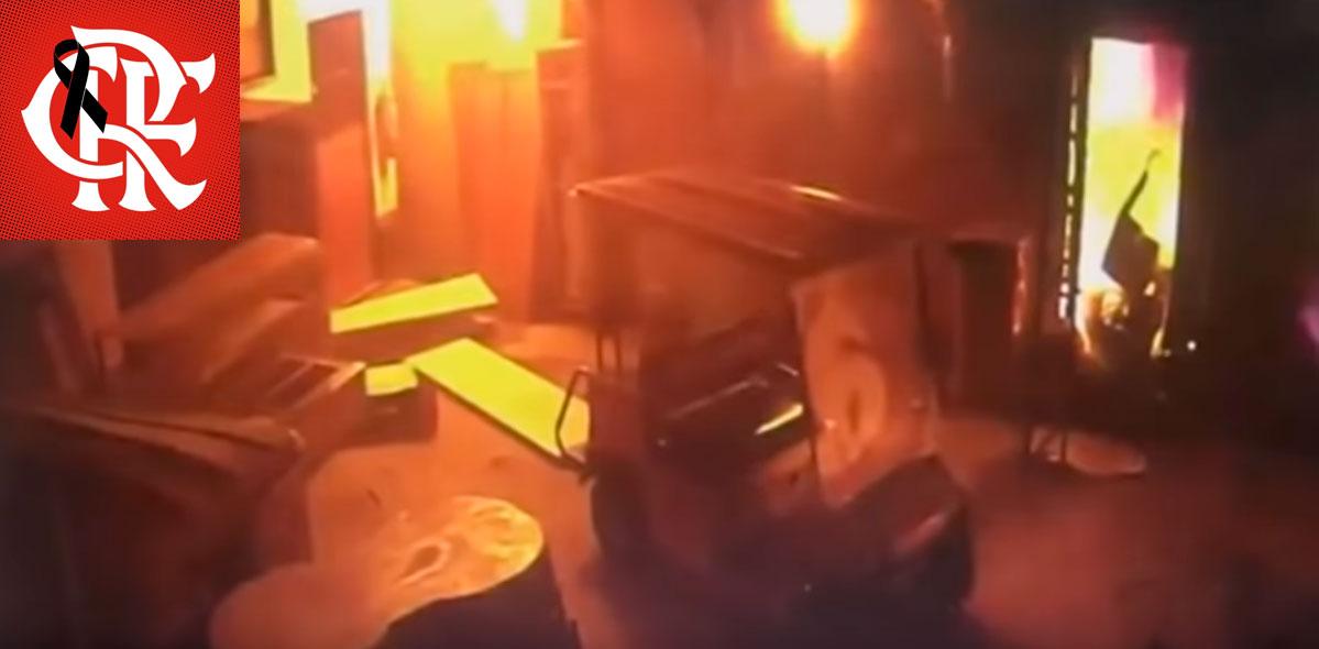 Vascaínos usam incêndio no Ninho pra provocar Fla; torcidas repudiam na web