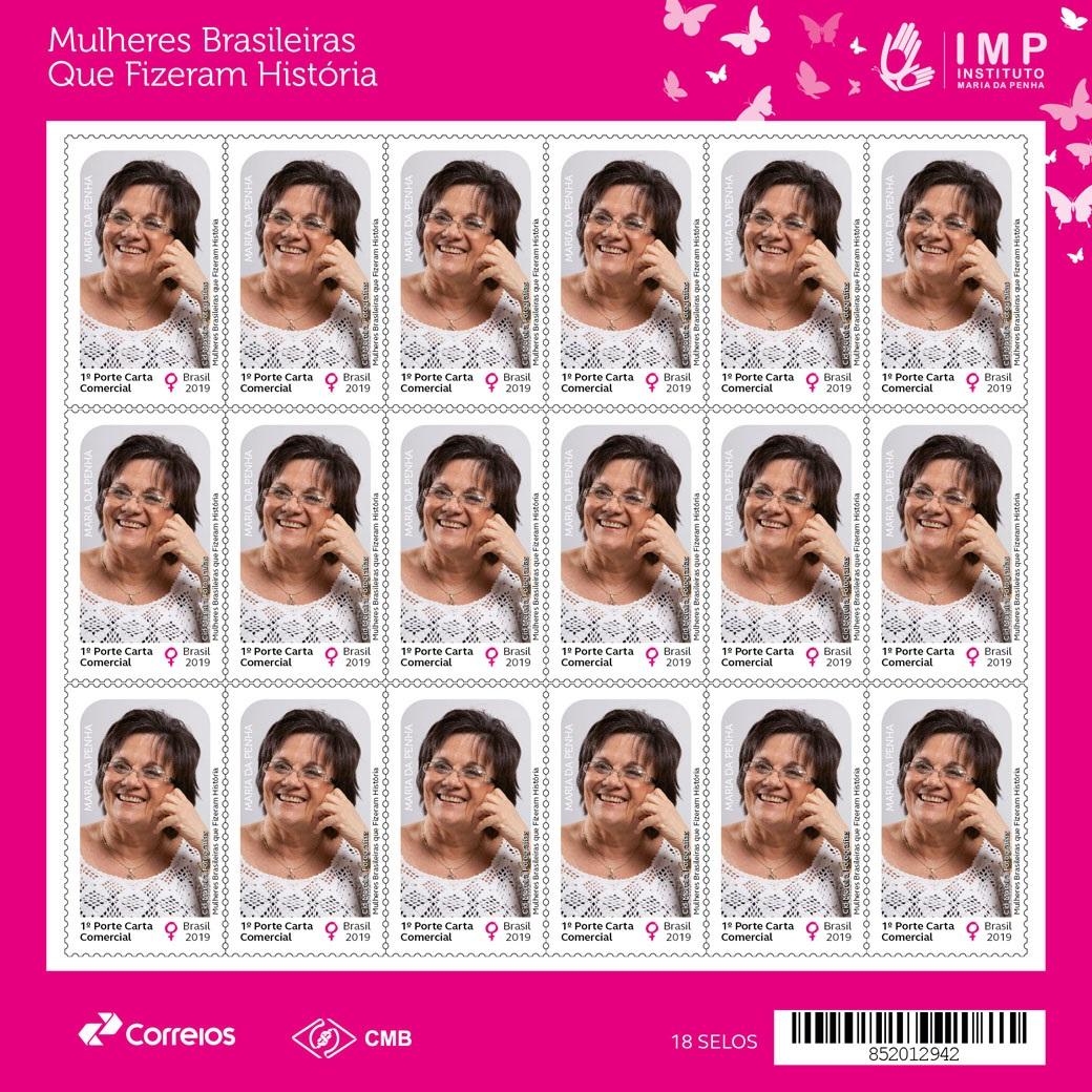 Correios lança selo que homenageia Maria da Penha - CidadeMarketing